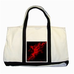 Red Smoke Two Tone Tote Bag by berwies