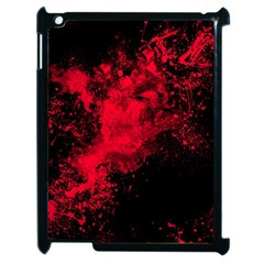 Red Smoke Apple Ipad 2 Case (black) by berwies