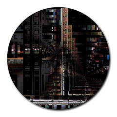 Blacktechnology Circuit Board Electronic Computer Round Mousepads by BangZart