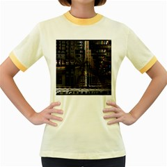 Blacktechnology Circuit Board Electronic Computer Women s Fitted Ringer T Shirts