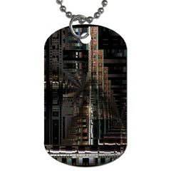 Blacktechnology Circuit Board Electronic Computer Dog Tag (one Side)