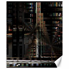 Blacktechnology Circuit Board Electronic Computer Canvas 8  X 10