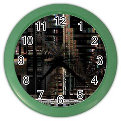 Blacktechnology Circuit Board Electronic Computer Color Wall Clocks