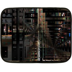 Blacktechnology Circuit Board Electronic Computer Fleece Blanket (mini)