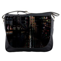 Blacktechnology Circuit Board Electronic Computer Messenger Bags