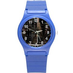 Blacktechnology Circuit Board Electronic Computer Round Plastic Sport Watch (s) by BangZart