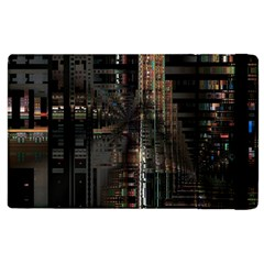 Blacktechnology Circuit Board Electronic Computer Apple Ipad 3/4 Flip Case by BangZart