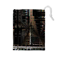 Blacktechnology Circuit Board Electronic Computer Drawstring Pouches (large)