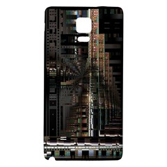 Blacktechnology Circuit Board Electronic Computer Galaxy Note 4 Back Case by BangZart