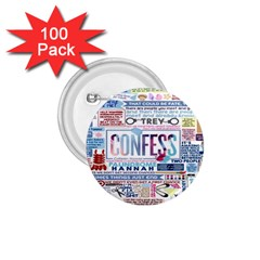 Book Collage Based On Confess 1 75  Buttons (100 Pack)  by BangZart