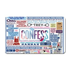 Book Collage Based On Confess Magnet (rectangular)