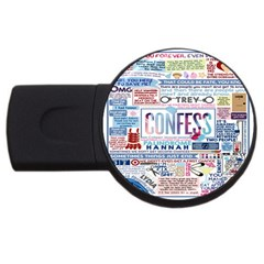 Book Collage Based On Confess Usb Flash Drive Round (2 Gb) by BangZart