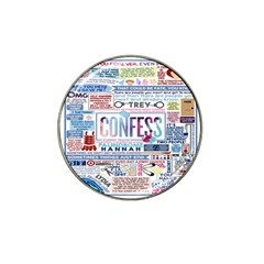 Book Collage Based On Confess Hat Clip Ball Marker (10 Pack)
