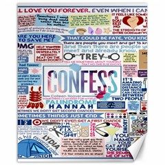 Book Collage Based On Confess Canvas 16  X 20
