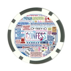 Book Collage Based On Confess Poker Chip Card Guard (10 Pack)