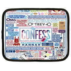 Book Collage Based On Confess Netbook Case (xxl)