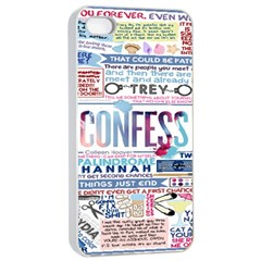 Book Collage Based On Confess Apple Iphone 4/4s Seamless Case (white)
