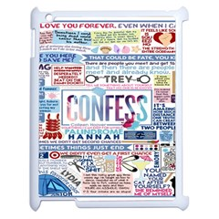 Book Collage Based On Confess Apple Ipad 2 Case (white) by BangZart