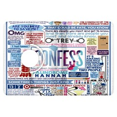 Book Collage Based On Confess Kindle Fire Hdx Flip 360 Case by BangZart