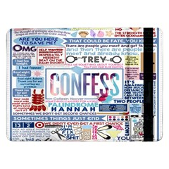 Book Collage Based On Confess Samsung Galaxy Tab Pro 12 2  Flip Case