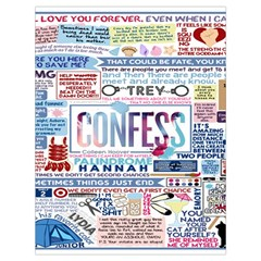 Book Collage Based On Confess Drawstring Bag (large)