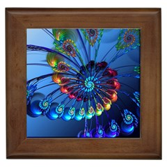 Top Peacock Feathers Framed Tiles