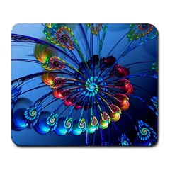 Top Peacock Feathers Large Mousepads