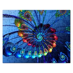 Top Peacock Feathers Rectangular Jigsaw Puzzl