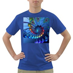 Top Peacock Feathers Dark T Shirt