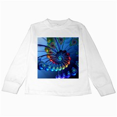 Top Peacock Feathers Kids Long Sleeve T Shirts