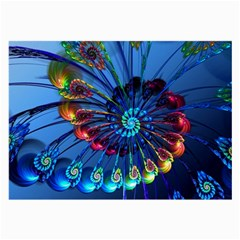 Top Peacock Feathers Large Glasses Cloth (2 Side) by BangZart