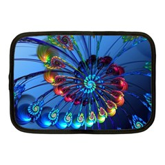 Top Peacock Feathers Netbook Case (medium)  by BangZart