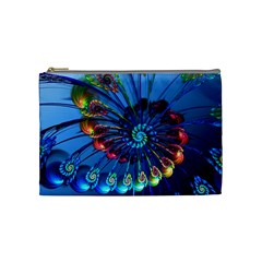 Top Peacock Feathers Cosmetic Bag (medium)