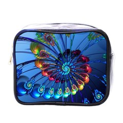 Top Peacock Feathers Mini Toiletries Bags by BangZart