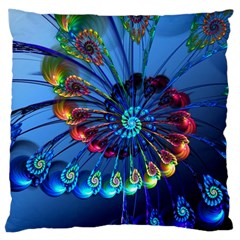 Top Peacock Feathers Large Cushion Case (one Side)