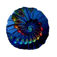 Top Peacock Feathers Standard 15  Premium Round Cushions