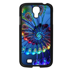 Top Peacock Feathers Samsung Galaxy S4 I9500/ I9505 Case (black) by BangZart