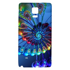 Top Peacock Feathers Galaxy Note 4 Back Case