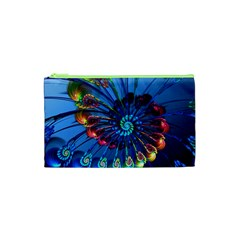 Top Peacock Feathers Cosmetic Bag (xs) by BangZart