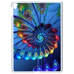 Top Peacock Feathers Apple Ipad Pro 9 7   White Seamless Case