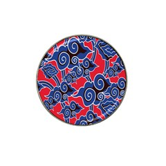 Batik Background Vector Hat Clip Ball Marker (4 Pack)
