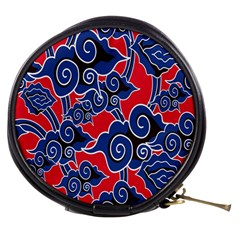 Batik Background Vector Mini Makeup Bags