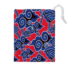 Batik Background Vector Drawstring Pouches (extra Large)