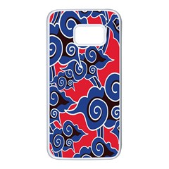 Batik Background Vector Samsung Galaxy S7 White Seamless Case by BangZart