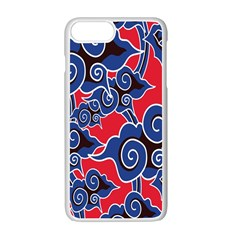 Batik Background Vector Apple Iphone 7 Plus White Seamless Case
