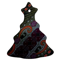 Batik Art Pattern  Ornament (christmas Tree)