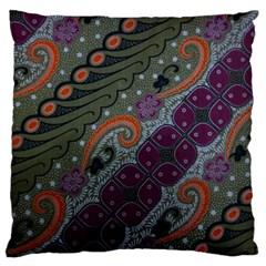 Batik Art Pattern  Standard Flano Cushion Case (two Sides)