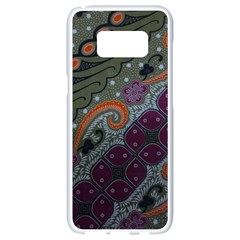 Batik Art Pattern  Samsung Galaxy S8 White Seamless Case