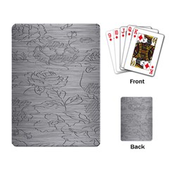 Embossed Rose Pattern Playing Card