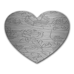 Embossed Rose Pattern Heart Mousepads
